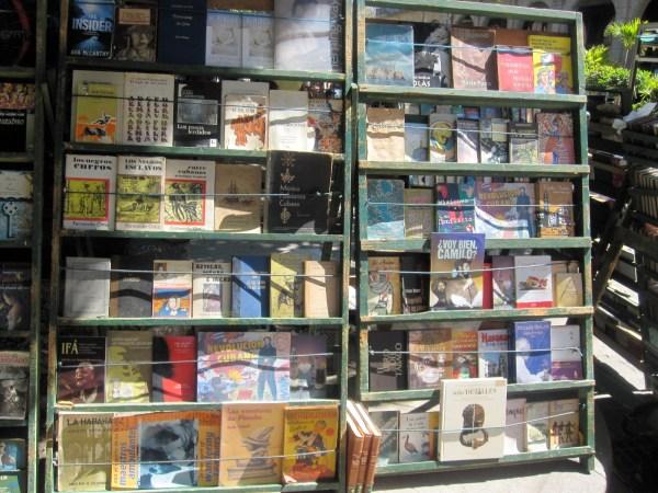 Outdoor Book Vendor in Havana Cuba