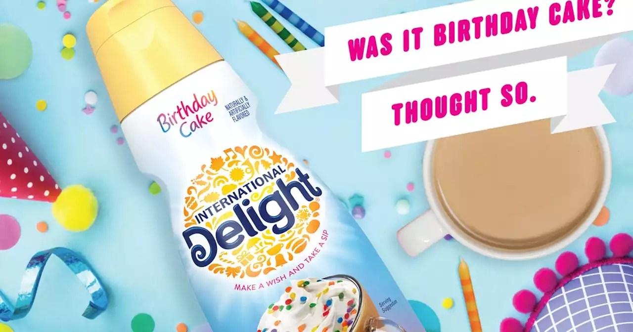 International Delight Has A New Birthday Cake Coffee Creamer Sprinkles Sold Separately