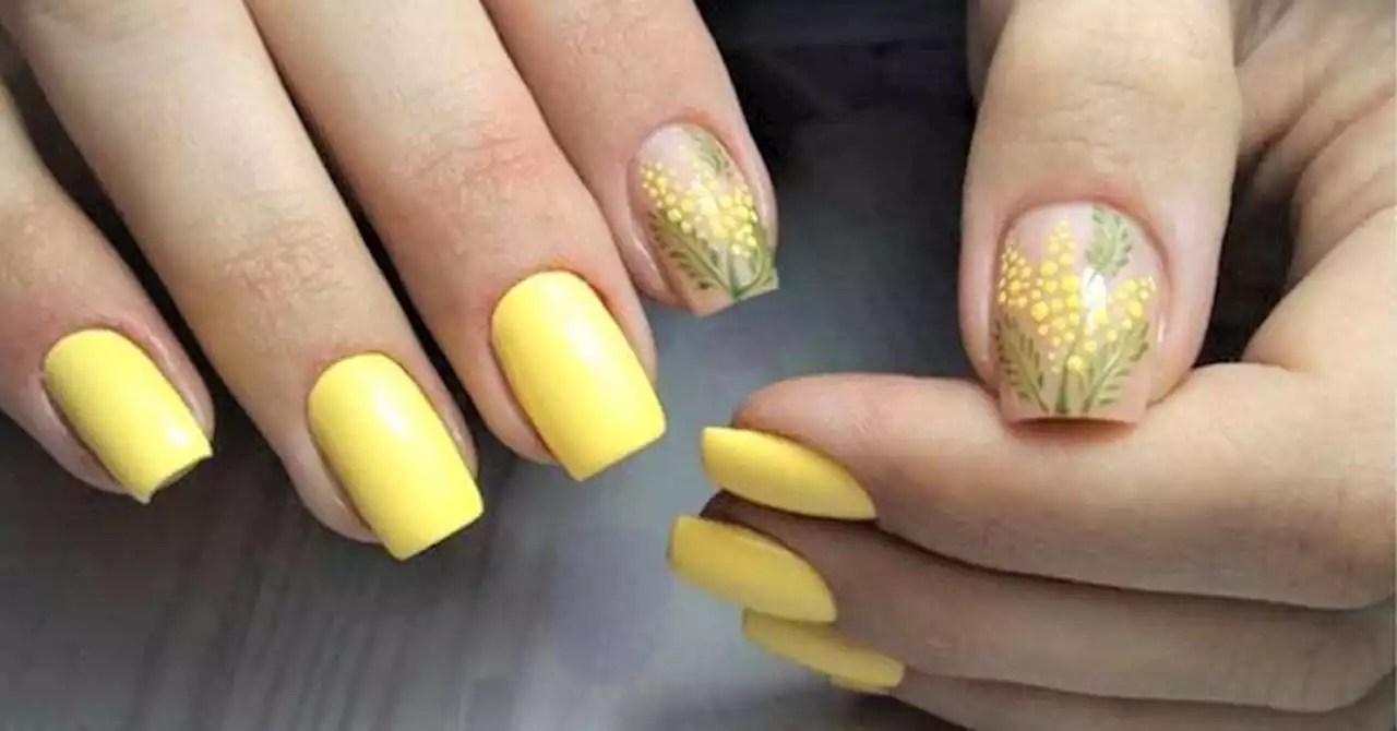 Nailart Nail Art Mimosa Il Trend Unghie Della Primavera 2020