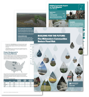 Image spread for Flood Case Study report.