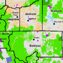 Map of Siskiyou Land Ownership