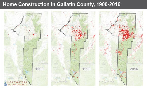 Home Construction in Gallatin County, 1900-2016