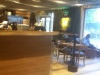 The Starbucks near outr hotel, with nautical theme of ropes.. Their free wireless required SMS authentication to one device, which felt like a straitjacket compared to the US or Istanbul.