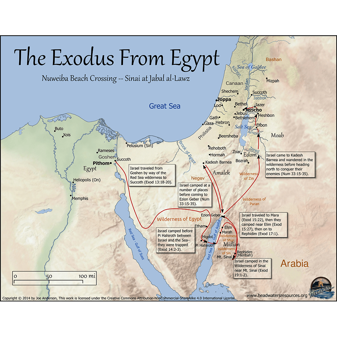 Exodus, Moses and Joseph Maps Set: 6 Pro Series Bible Maps