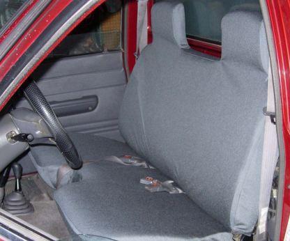 "1981 - 1994 Toyota Pickup 4X4 Bench, 5"" Shifter Notch Seat Covers"