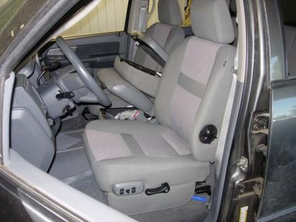2005 - 2009 Dodge 40/20/40 Upholstered Flap, Opening Upper and Lower Consoles Seat Covers