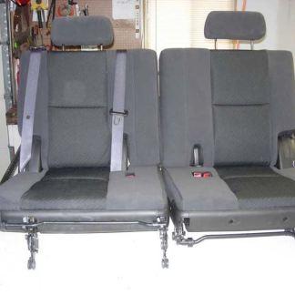 2007 - 2014 GMC Yukon 3rd Row 50/50 Split Bench Seat Covers