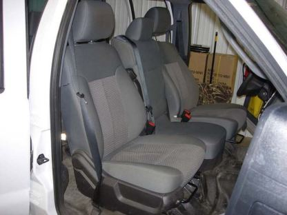 2011 - 2016 Ford F-250-550 XL 40/20/40 with Non-Opening Middle Bottom Seat Covers