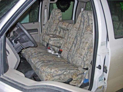 2004 - 2010 F-250-550 Front Solid Bench with Armrest Seat Covers