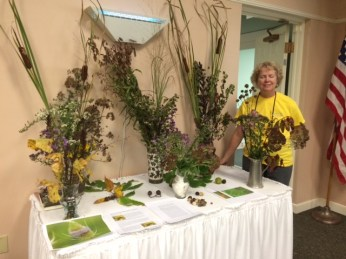 Elaine at the Native Wildflowers table.