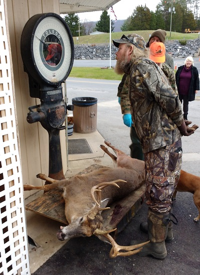 This prize buck was going to a taxidermist so samples for CWD will be collected from them so as not to damage the carcass.