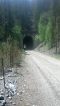 Tunnel time on the way to Butte.
