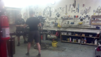 They're working on my bike fast at the Outdoorsman. Rob is a really nice and generous guy.