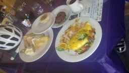 Wise River Cafe. My 3rd biggest meal on route.