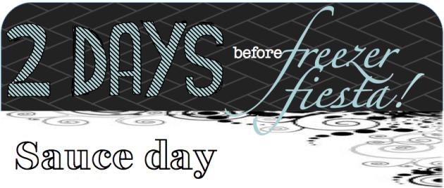 2 DAYS BEFORE freezer fiesta SAUCE DAY