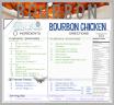 BOURBON CHICKEN freezer fiesta card