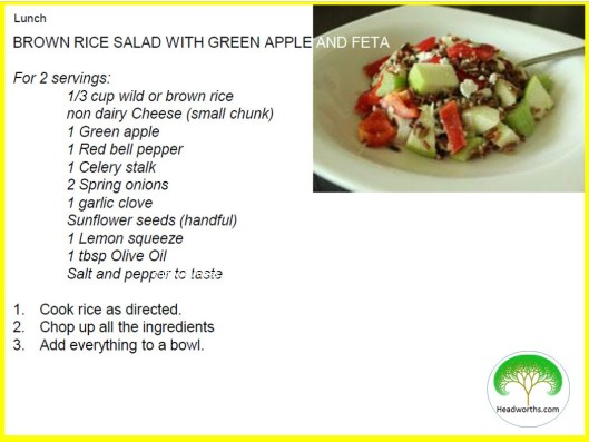 BROWN RICE & GREEN APPLE FETA SALAD