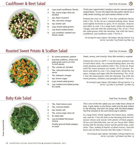 SALAD cauliflower - beet - sweet potato - kale