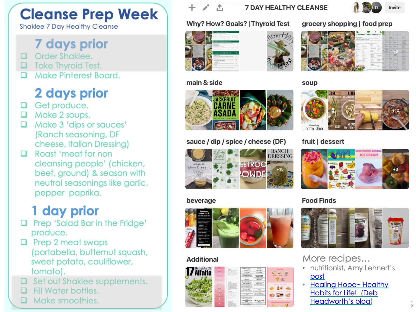 Cleanse Prep Week. Keep it simple! Go to produce section, Freezer and salt free spice section. And… READ '2 DAYS PRIOR' section