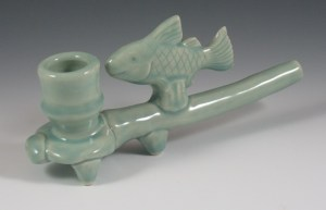 Platform Effigy Fish Pipe