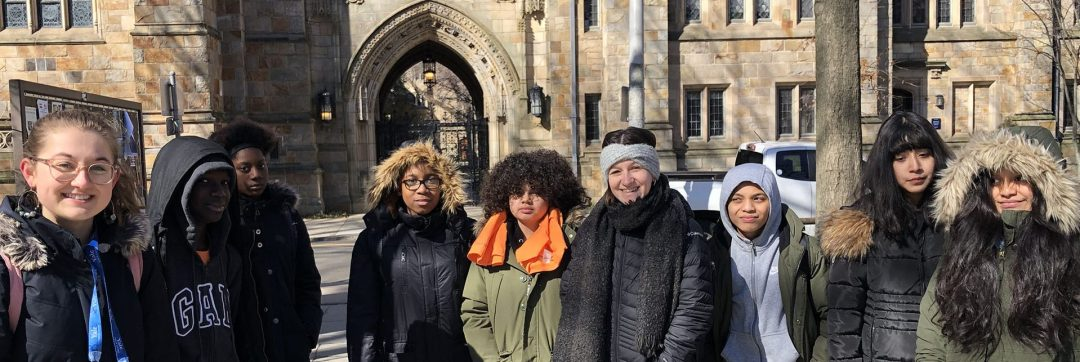HEAF students tour the campus of Yale University