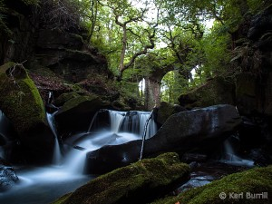 Fairies Chapel waterfall Healey Dell Rochdale