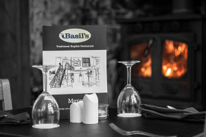 Basil's Traditional English Restaurant Facebook page run by Healey Life Photography website