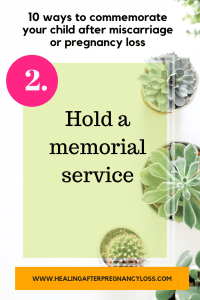 10 ways to commemorate your child after miscarriage or stillbirth