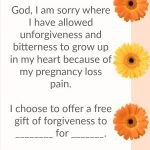 Prayer to forgive others for offenses after pregnancy loss