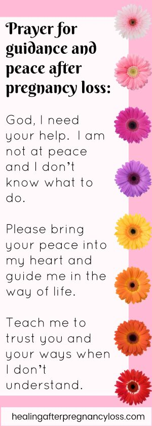 Prayer for peace after miscarriage and pregnancy loss