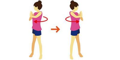 Waist Rotation - Warm Up Exercises Before Yoga