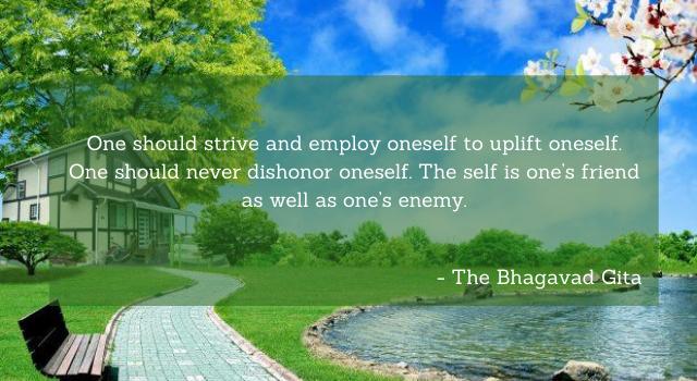 The Bhagavad Gita Inspirational Quotes