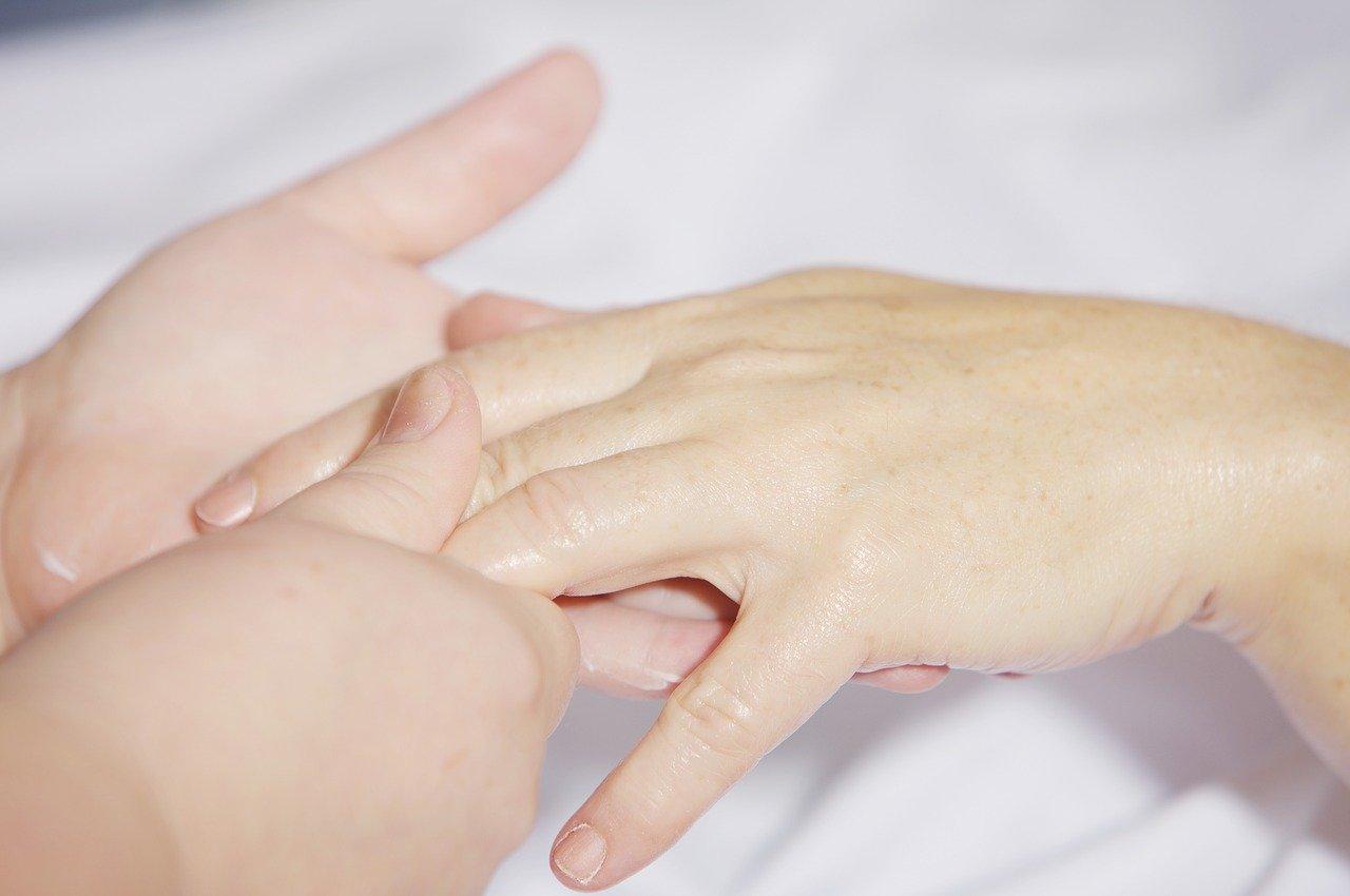 hand massage, treatment, finger