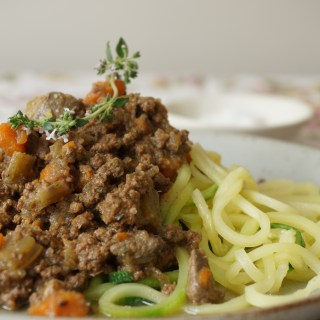 Bolognese Sauce with Chicken Livers and Zoodles {AIP, GAPS, SCD, Paleo}