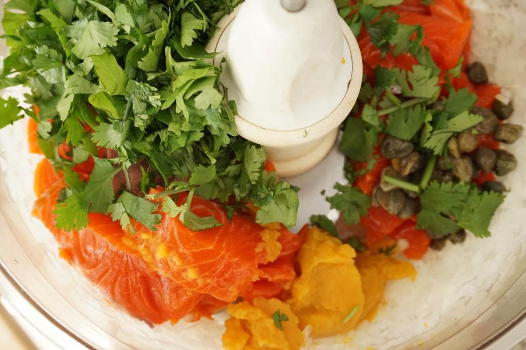 ingredients for salmon fishballs - healing family eats