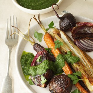 Roasted Vegetables with a Salsa Verde {AIP} - Healing Family Eats