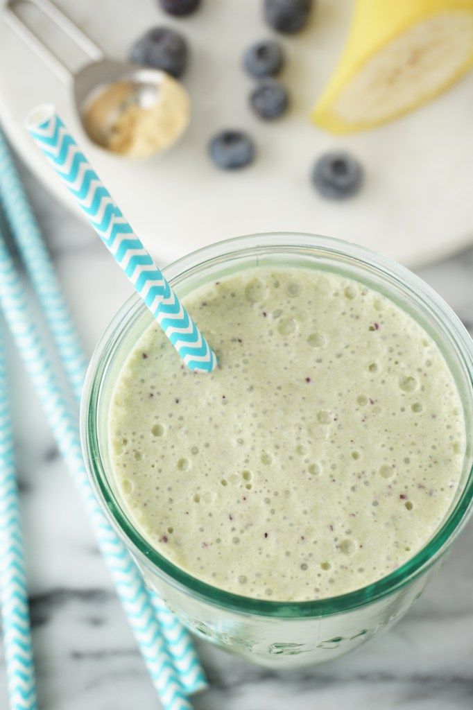 Blueberry Kale Collagen Shake {AIP}
