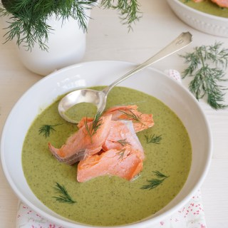 Wild Sockeye Salmon with Spinach and Dill Cream {AIP, GAPS, SCD, Paleo}