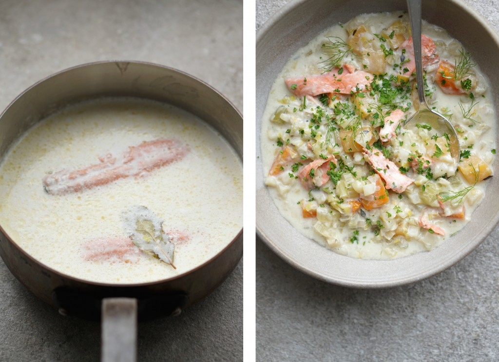 Hearty Salmon Chowder collage