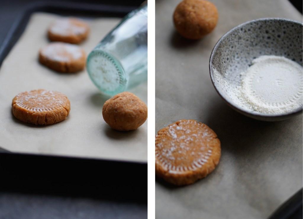 sweet potato, coconut, vanilla cookies