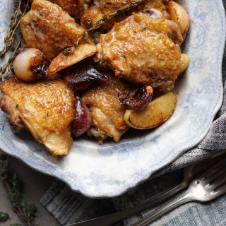 Chicken with Cider Vinegar Cream and Caramelised Apples {AIP, GAPS, SCD, Paleo}