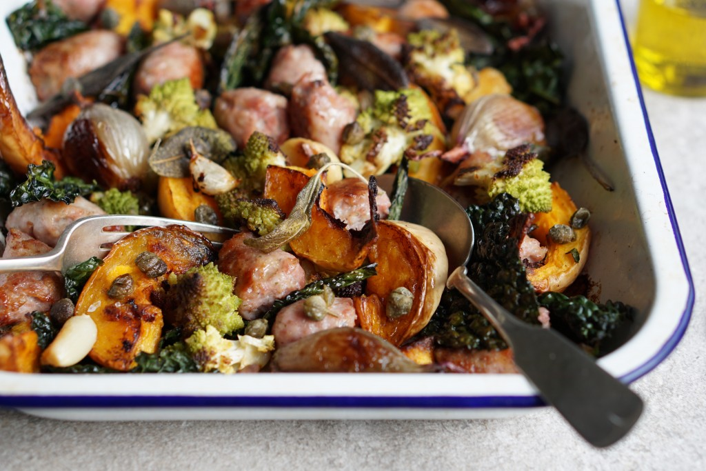 Tray Baked Bnut and Sausage [HFE]