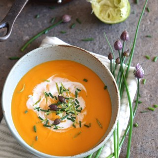 Sweet Potato and Lime Soup {HFE}