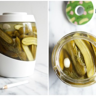 dill pickles collage