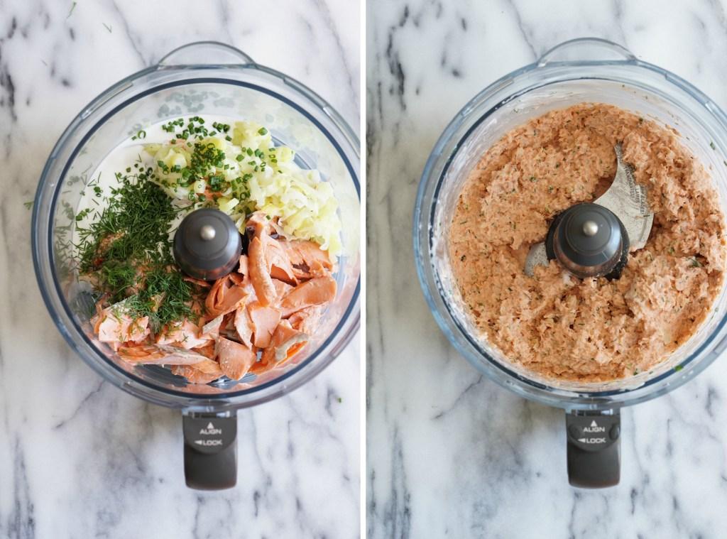 quick salmon pate collage