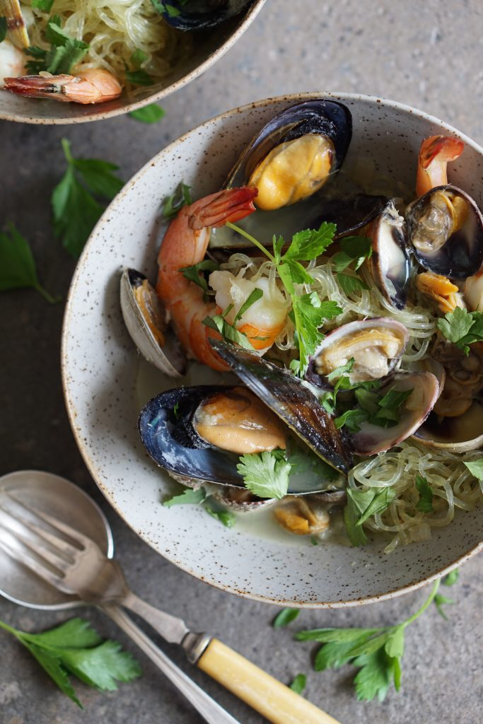 Fragrant Mussels, Clams Shrimps AIP