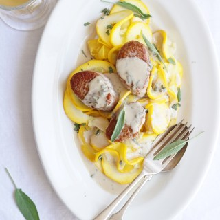 pork medallions sage cream [AIP]
