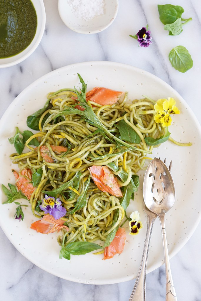 Wild Salmon with Basil Dressing {AIP}