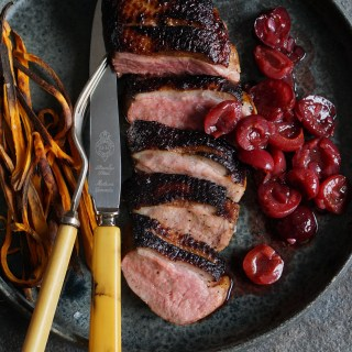 duck breasts with spiced cherries AIP