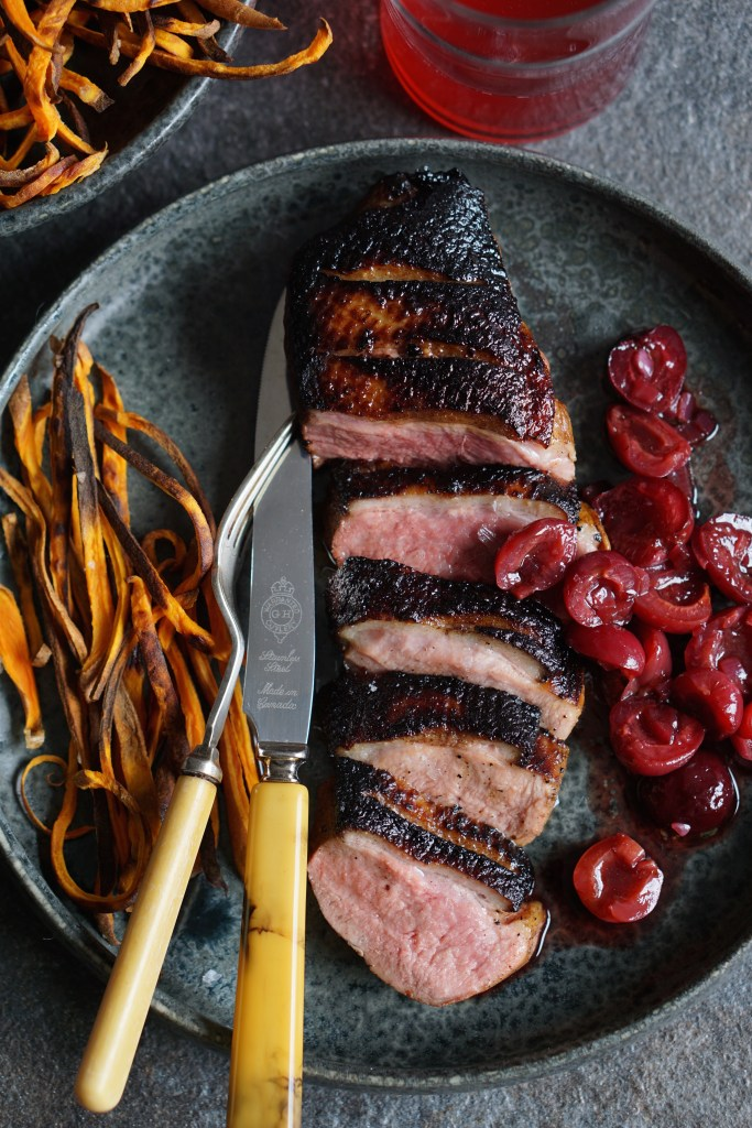 duck breasts with spiced cherries [AIP]